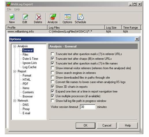 Weblog Expert服务器日志分析工具